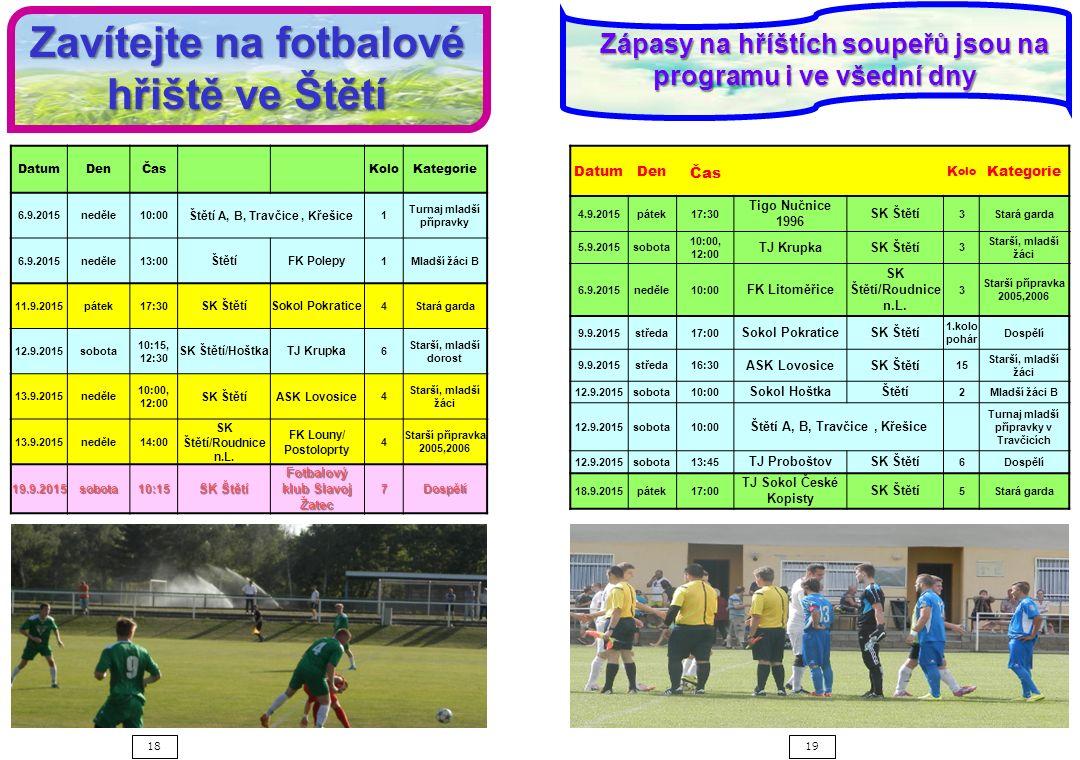 Zavítejte na fotbalové hřiště ve Štětí
