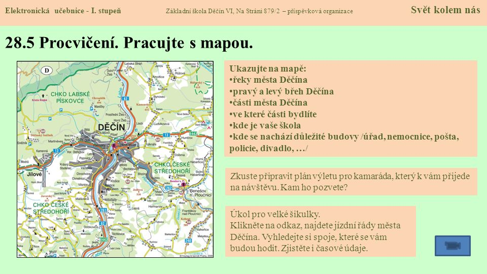 28.5 Procvičení. Pracujte s mapou.