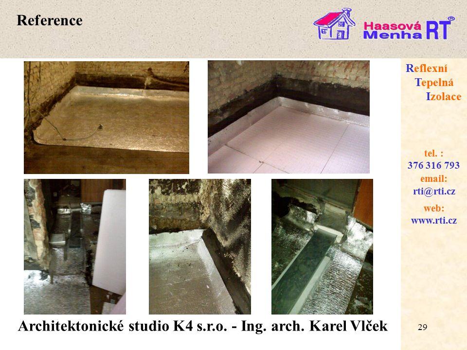 Architektonické studio K4 s.r.o. - Ing. arch. Karel Vlček