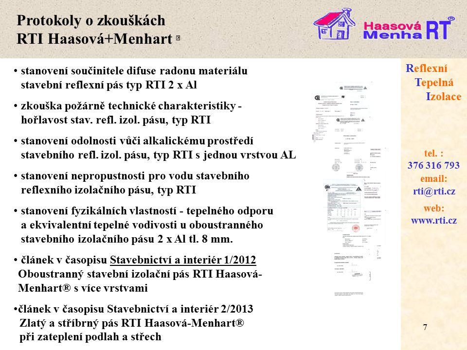 Protokoly o zkouškách RTI Haasová+Menhart 