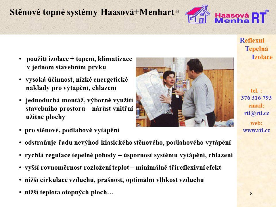 Stěnové topné systémy Haasová+Menhart 