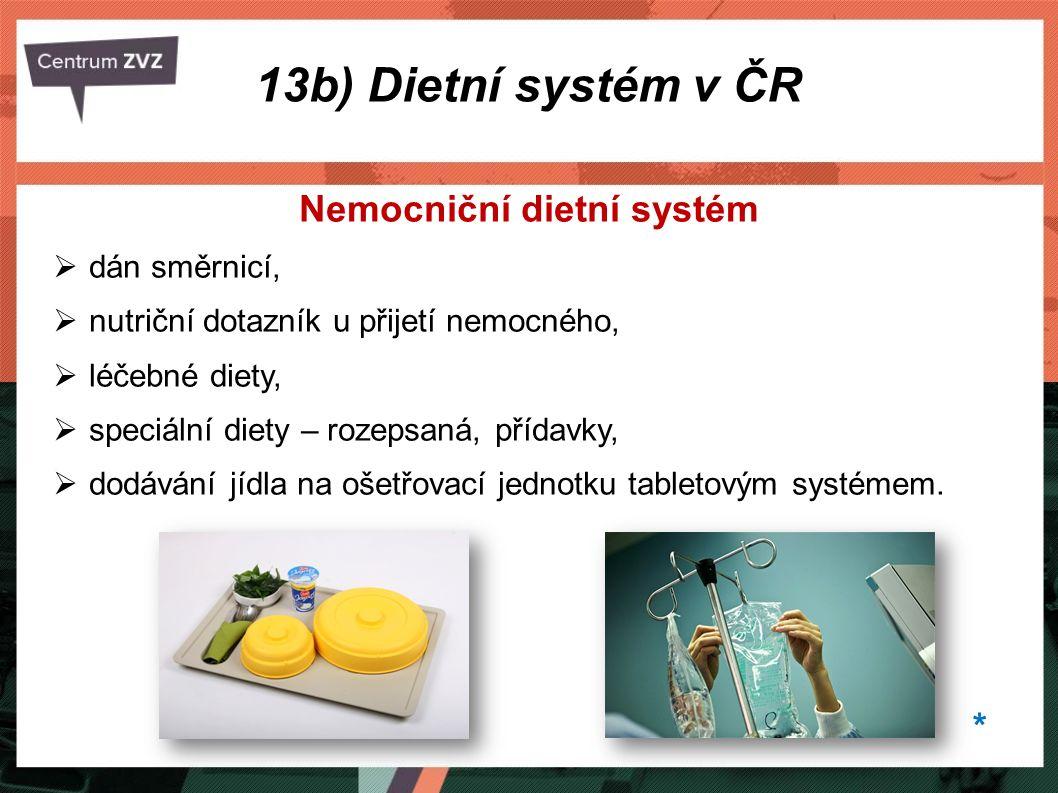 Nemocniční dietní systém