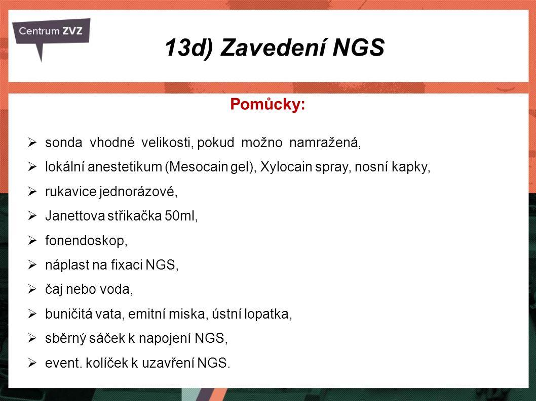 13d) Zavedení NGS Pomůcky: