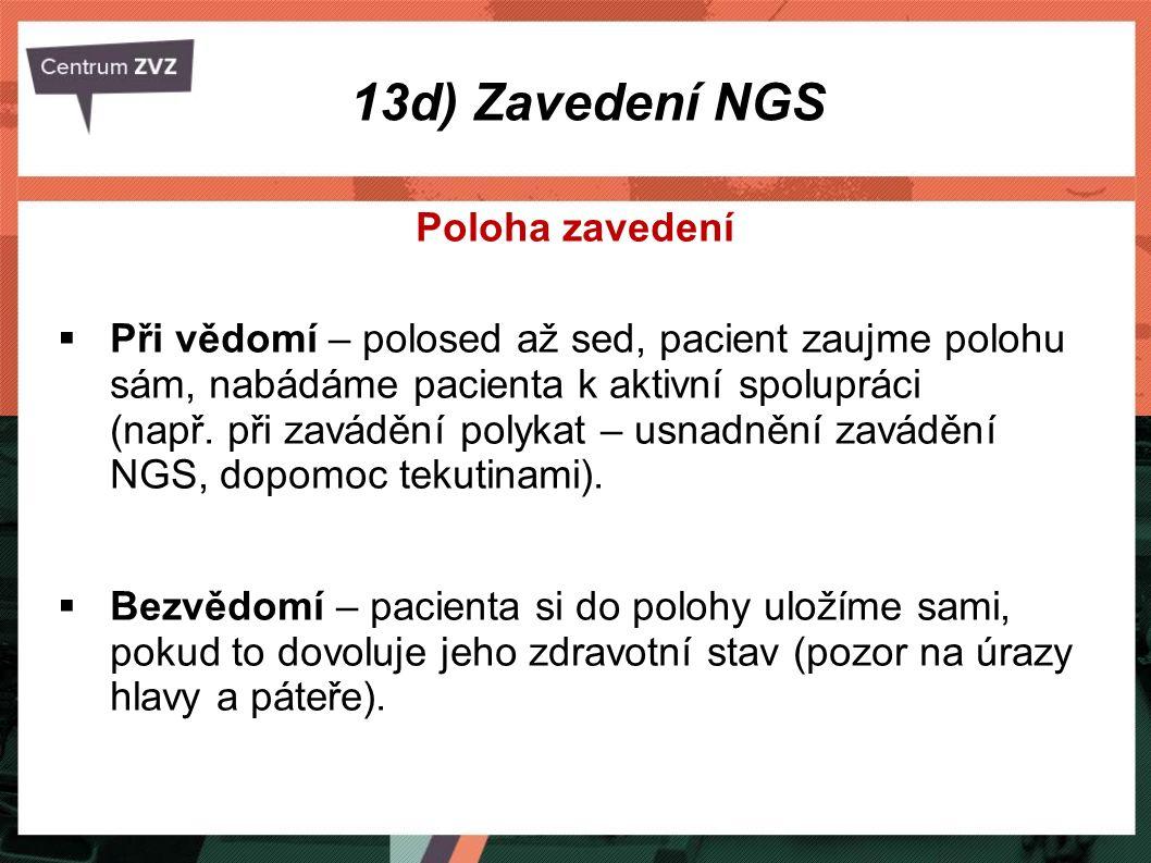 13d) Zavedení NGS Poloha zavedení