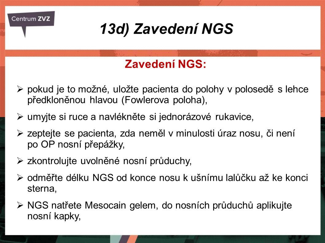 13d) Zavedení NGS Zavedení NGS: