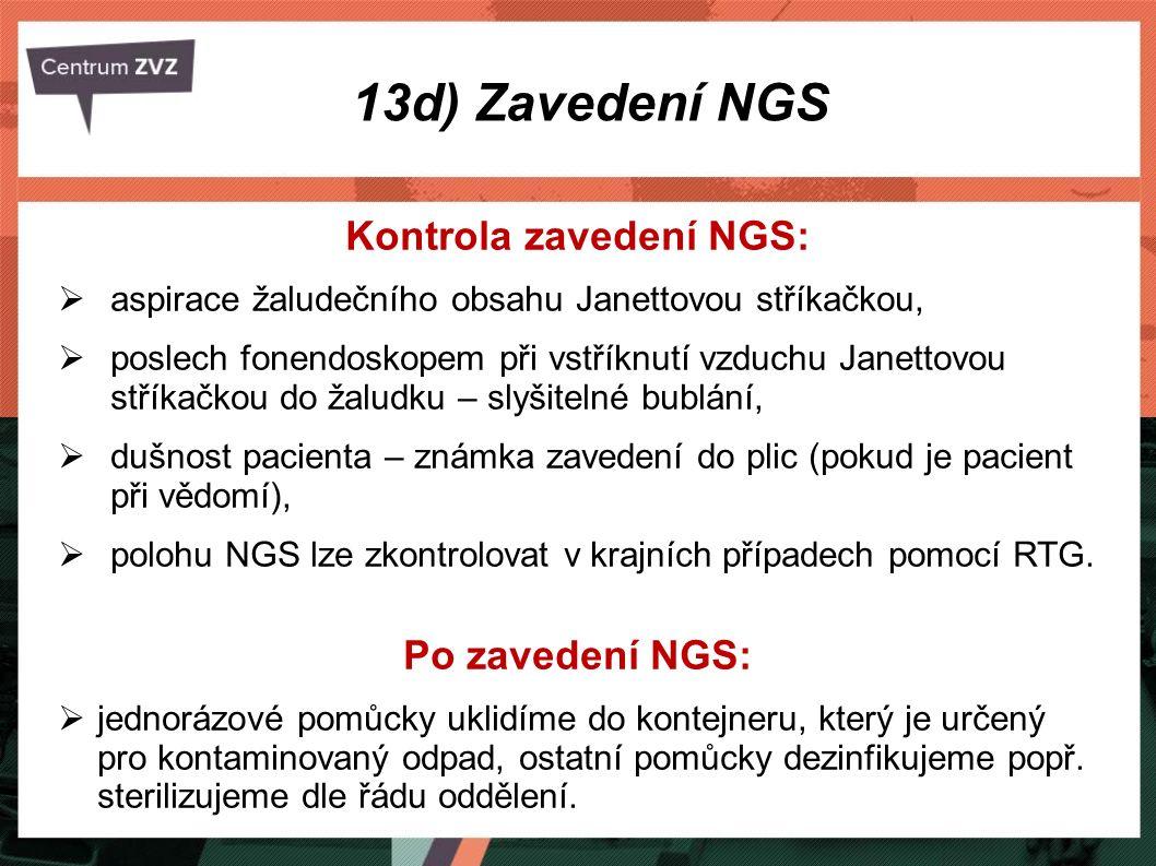 Kontrola zavedení NGS: