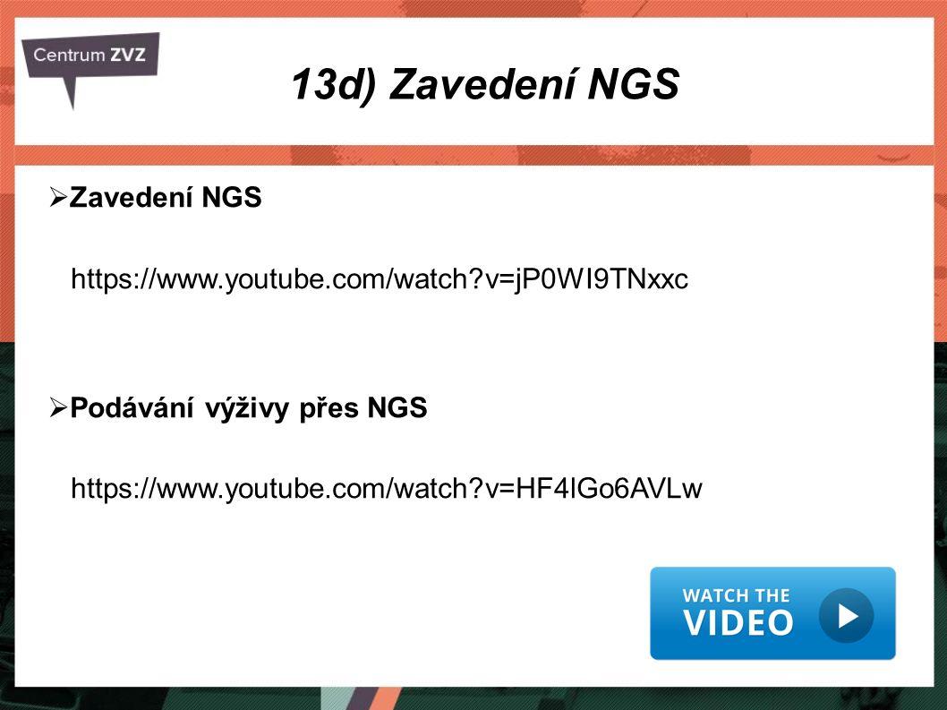 13d) Zavedení NGS Zavedení NGS