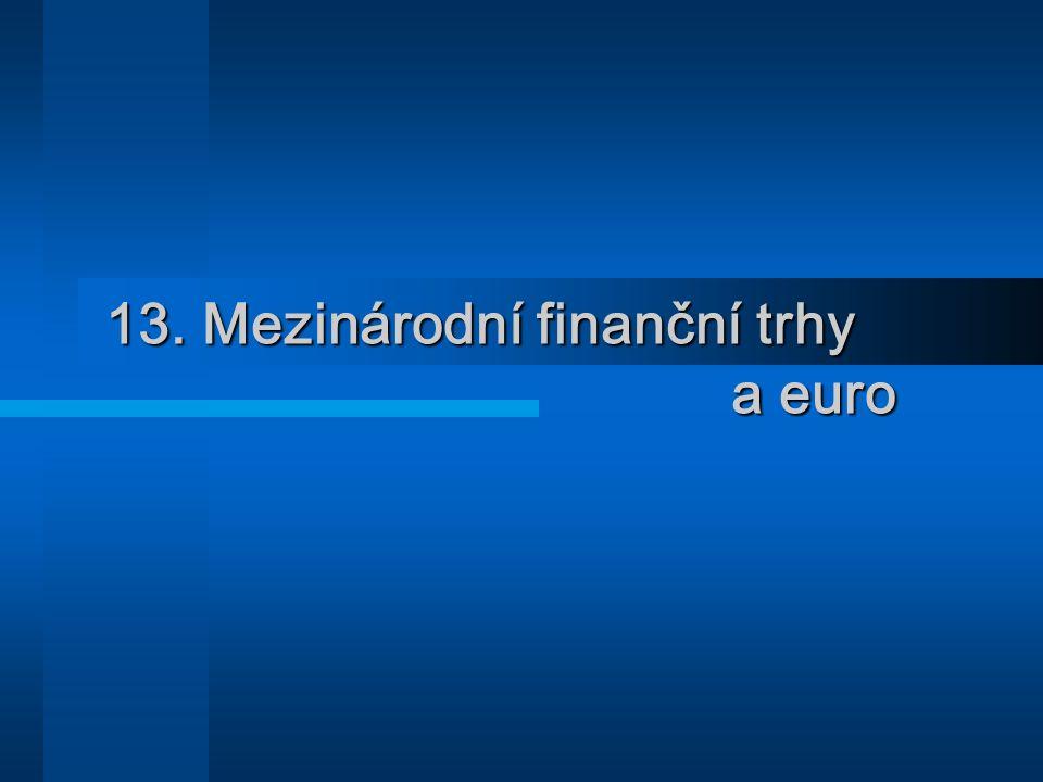 13. Mezinárodní finanční trhy a euro