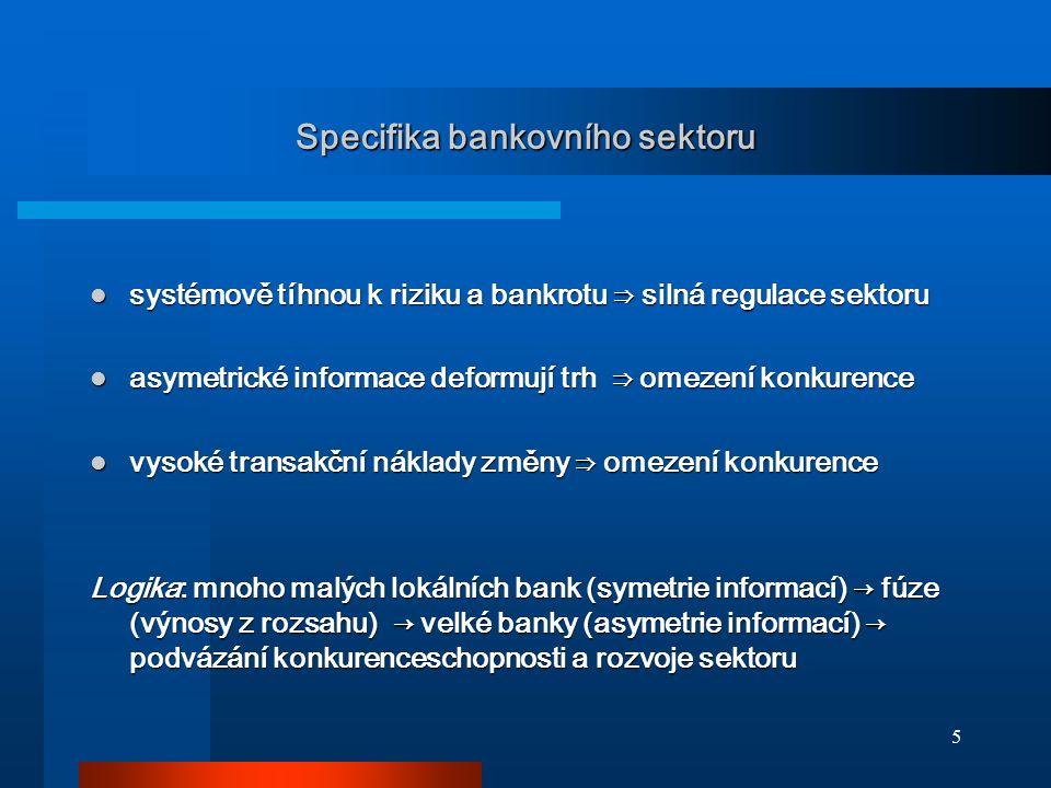 Specifika bankovního sektoru