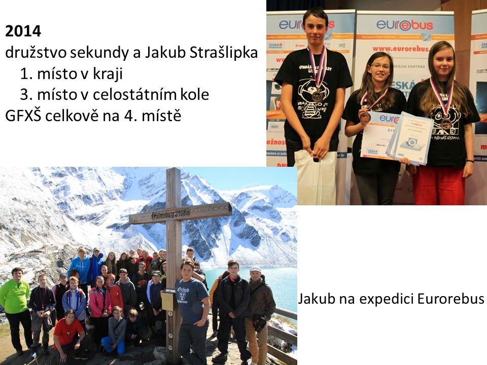 družstvo sekundy a Jakub Strašlipka 1. místo v kraji