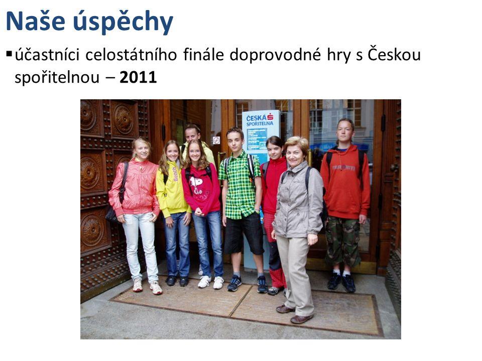 Naše úspěchy účastníci celostátního finále doprovodné hry s Českou spořitelnou – 2011