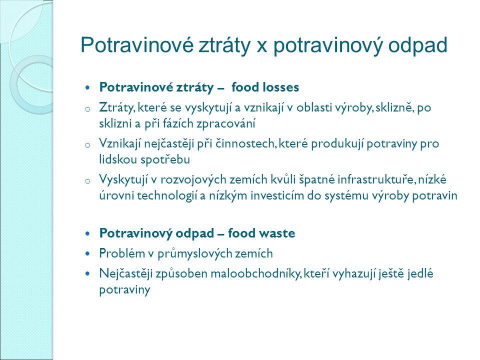 Potravinové ztráty x potravinový odpad