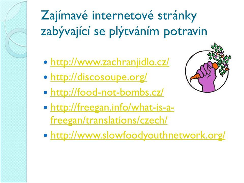 Zajímavé internetové stránky zabývající se plýtváním potravin