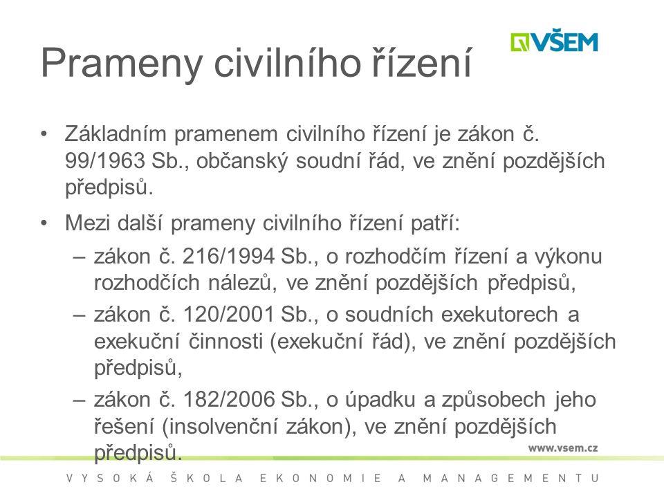 Prameny civilního řízení