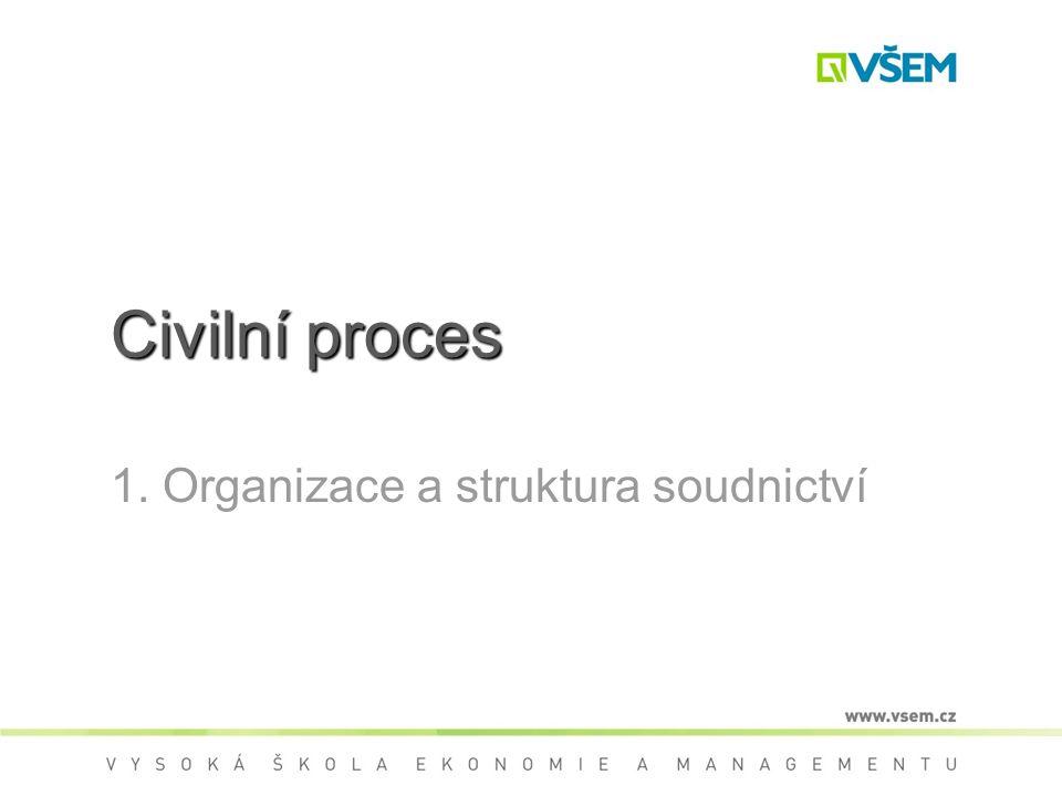 1. Organizace a struktura soudnictví