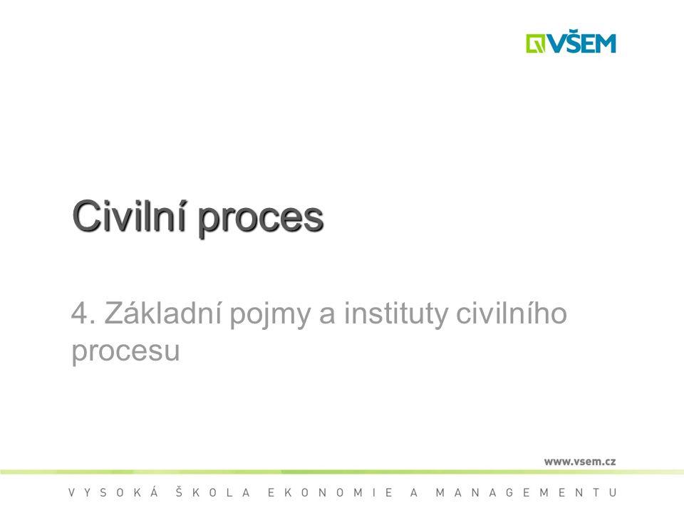 4. Základní pojmy a instituty civilního procesu