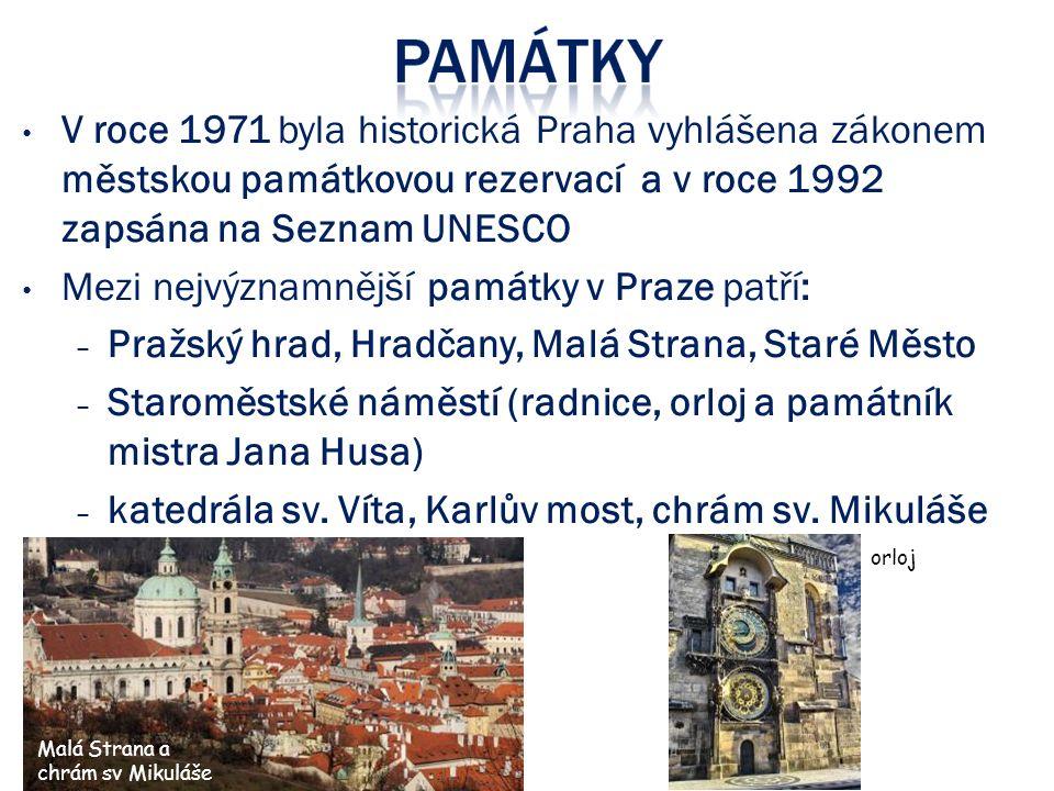 Mezi nejvýznamnější památky v Praze patří:
