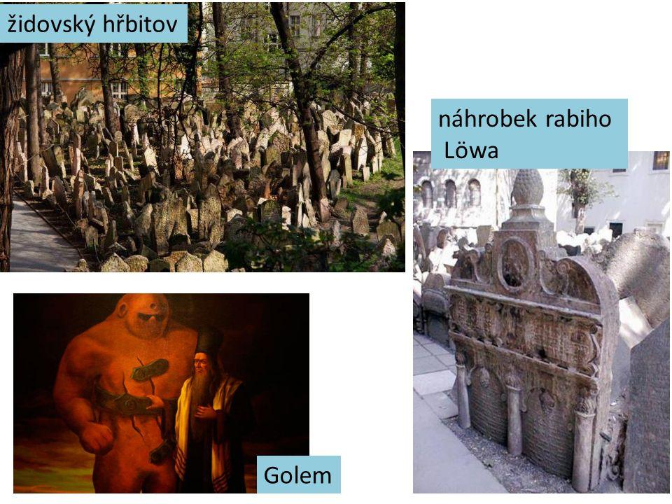 židovský hřbitov náhrobek rabiho Löwa Golem