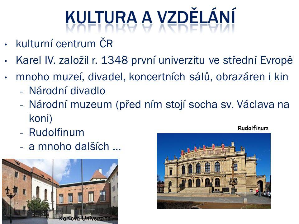 Karel IV. založil r. 1348 první univerzitu ve střední Evropě