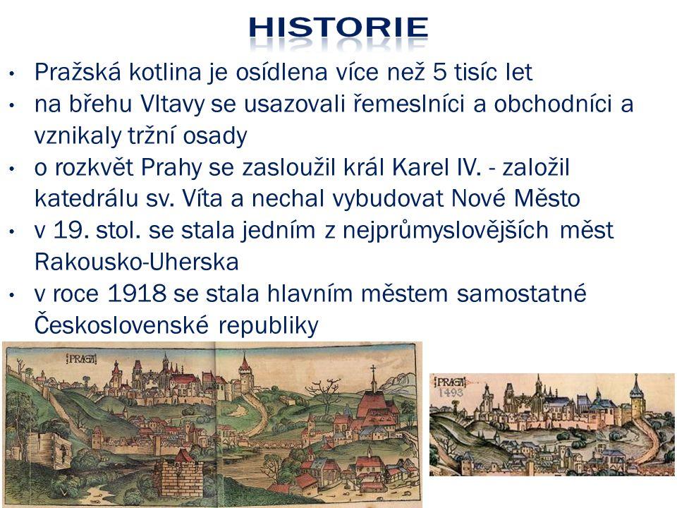 Pražská kotlina je osídlena více než 5 tisíc let