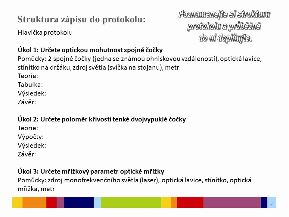 Struktura zápisu do protokolu: