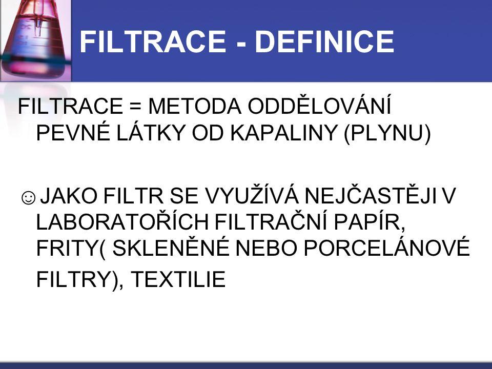 FILTRACE - DEFINICE
