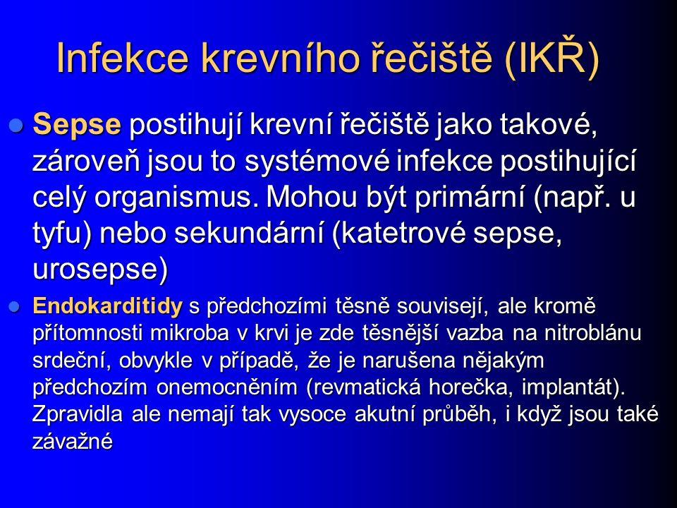 Infekce krevního řečiště (IKŘ)
