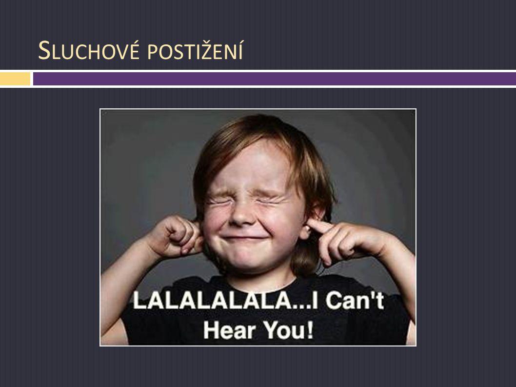 Sluchové postižení