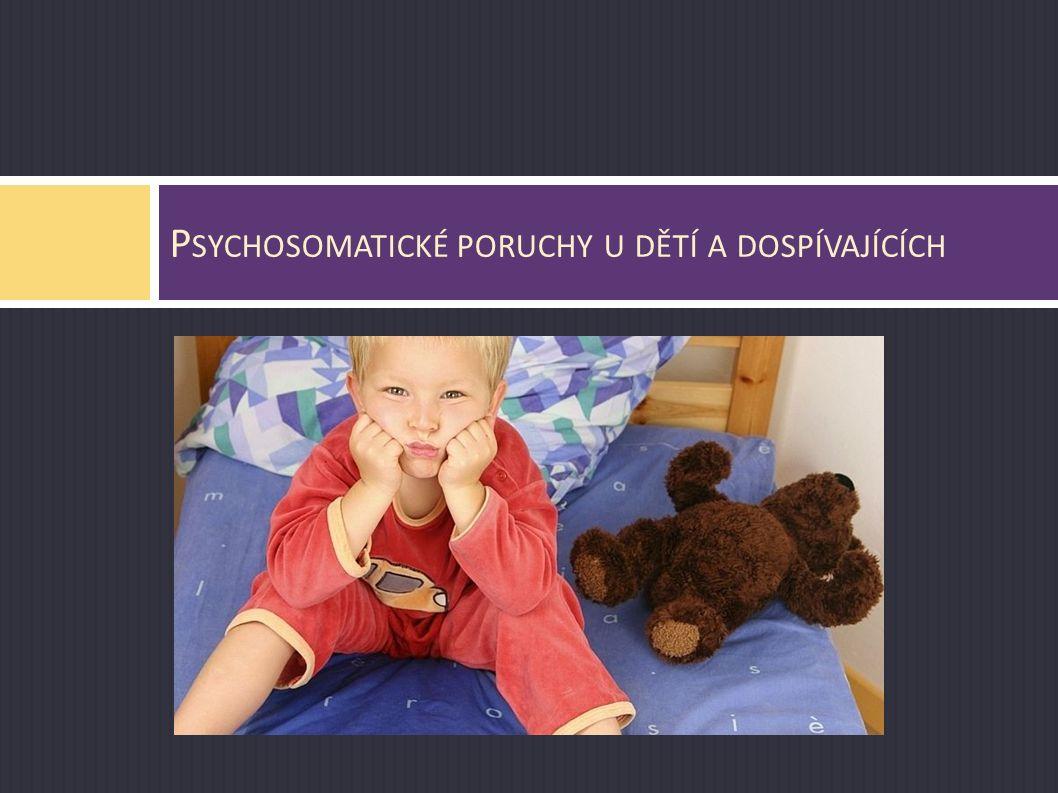 Psychosomatické poruchy u dětí a dospívajících