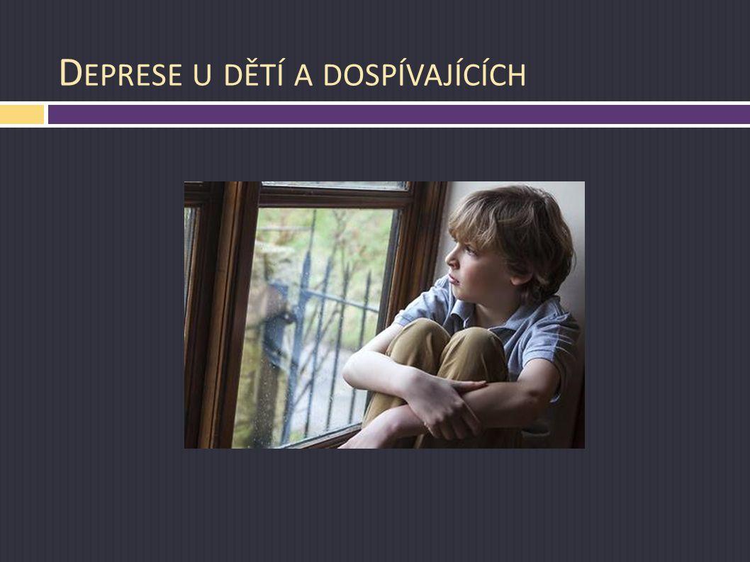 Deprese u dětí a dospívajících