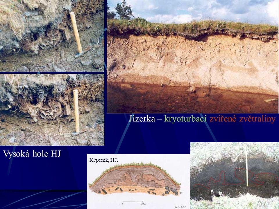Jizerka – kryoturbací zvířené zvětraliny