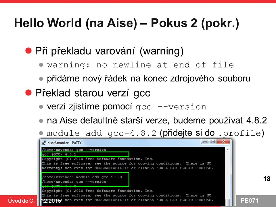 Hello World (na Aise) – Pokus 2 (pokr.)