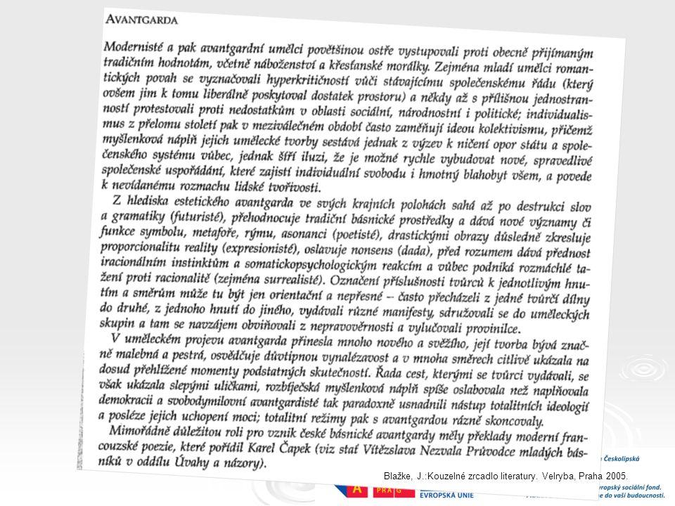 Blažke, J.:Kouzelné zrcadlo literatury. Velryba, Praha 2005.
