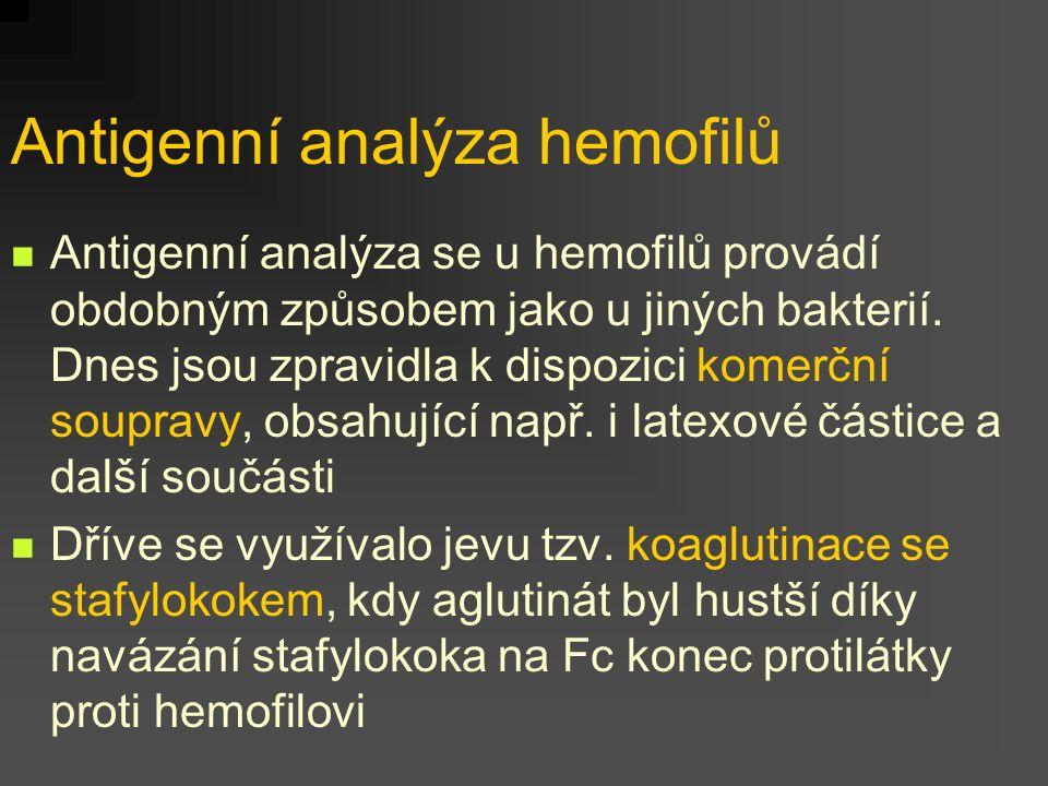 Antigenní analýza hemofilů