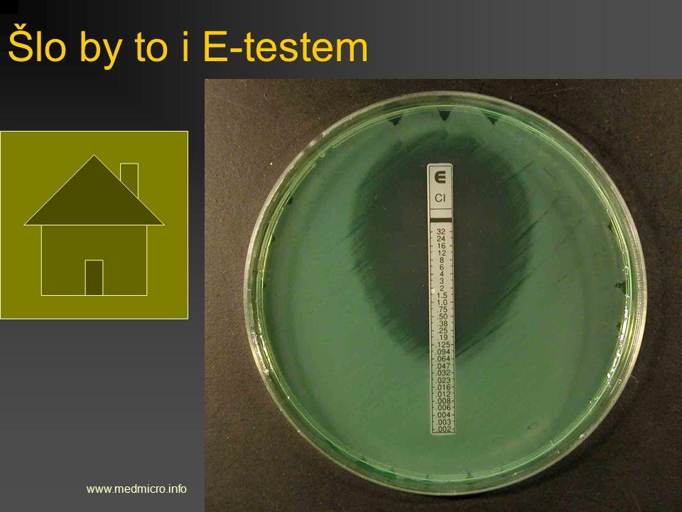 Šlo by to i E-testem www.medmicro.info