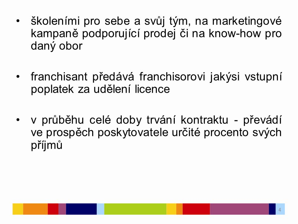 školeními pro sebe a svůj tým, na marketingové kampaně podporující prodej či na know-how pro daný obor