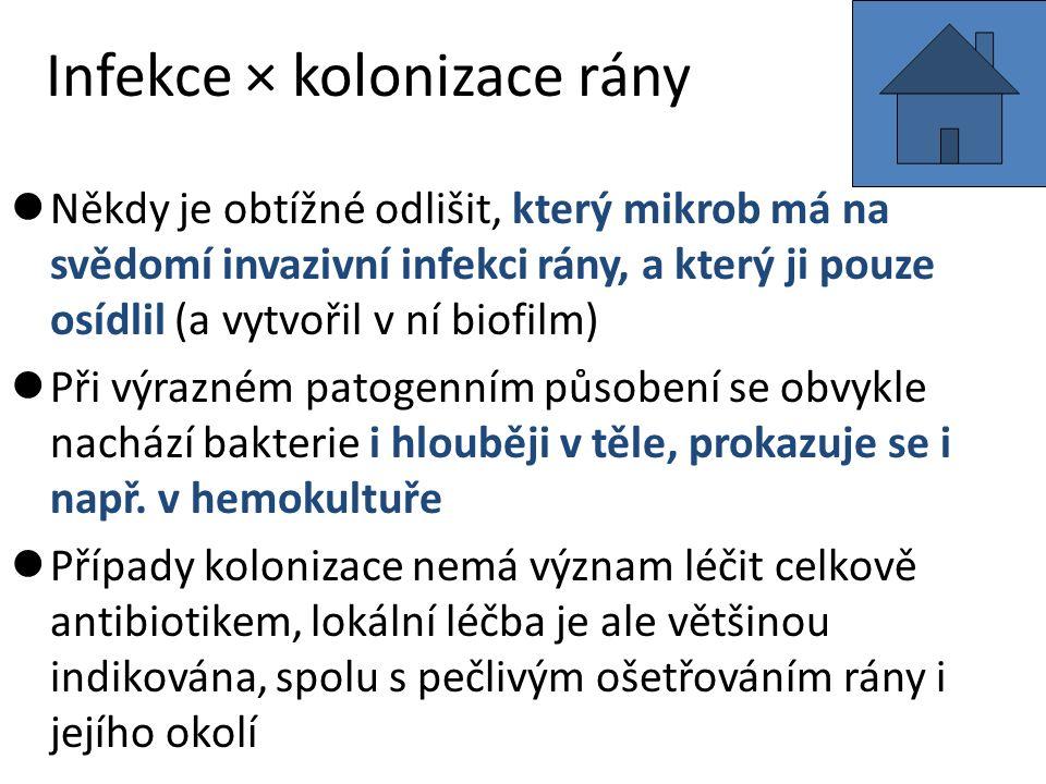 Infekce × kolonizace rány