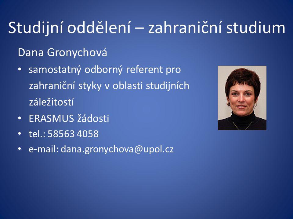 Studijní oddělení – zahraniční studium