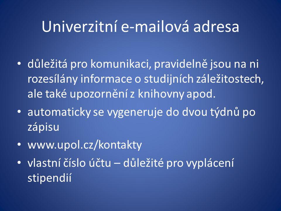 Univerzitní e-mailová adresa
