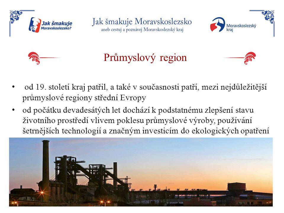 Průmyslový region od 19. století kraj patřil, a také v současnosti patří, mezi nejdůležitější průmyslové regiony střední Evropy.