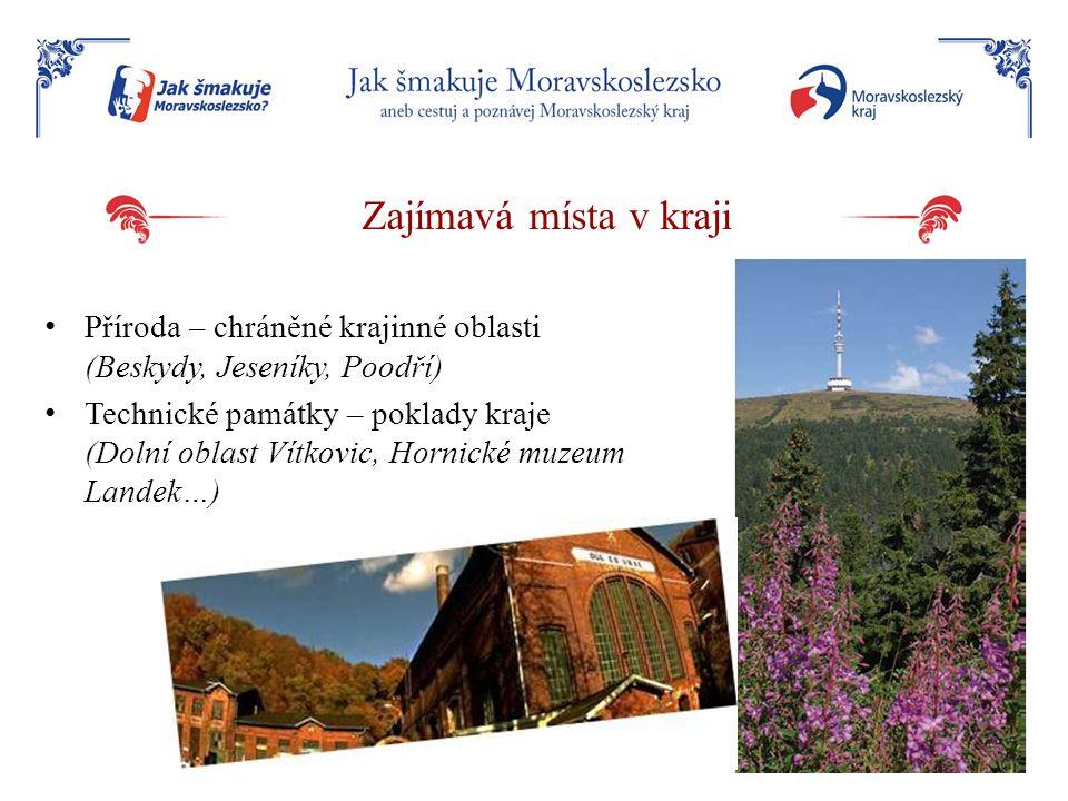 Zajímavá místa v kraji Příroda – chráněné krajinné oblasti (Beskydy, Jeseníky, Poodří)