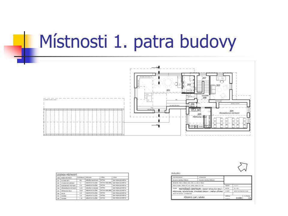 Místnosti 1. patra budovy