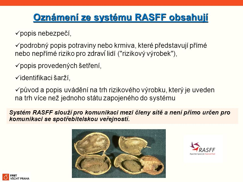 Oznámení ze systému RASFF obsahují