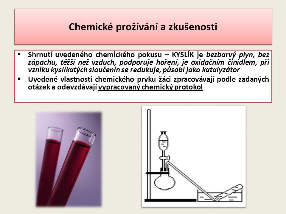 Chemické prožívání a zkušenosti