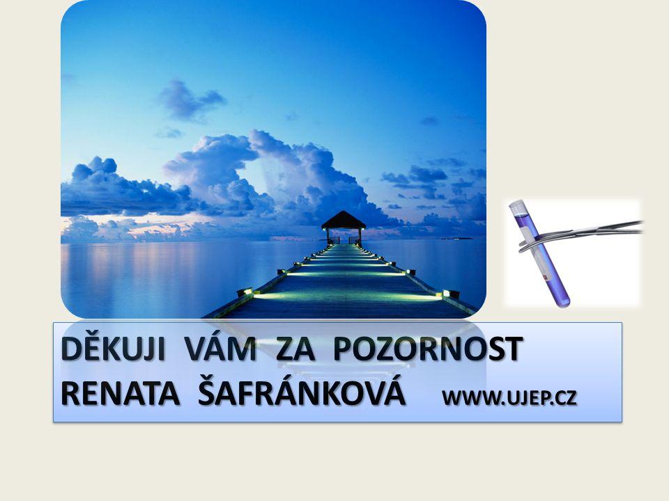 DĚKUJI VÁM ZA POZORNOST RENATA ŠAFRÁNKOVÁ www.ujep.cz