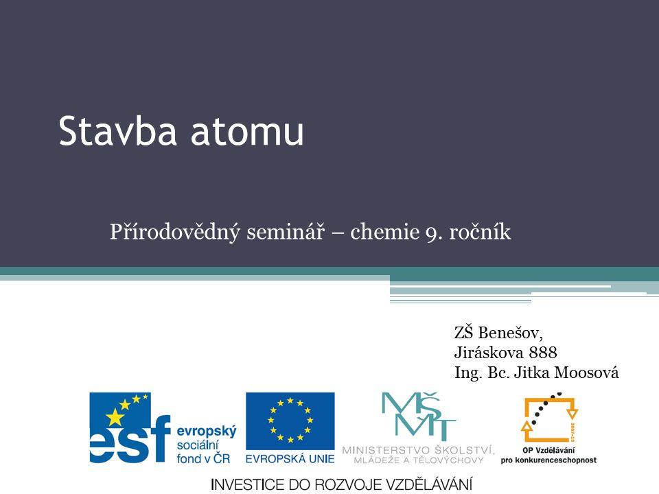 Přírodovědný seminář – chemie 9. ročník