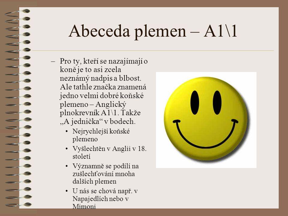 Abeceda plemen – A1\1