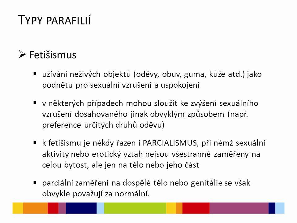 Typy parafilií Fetišismus