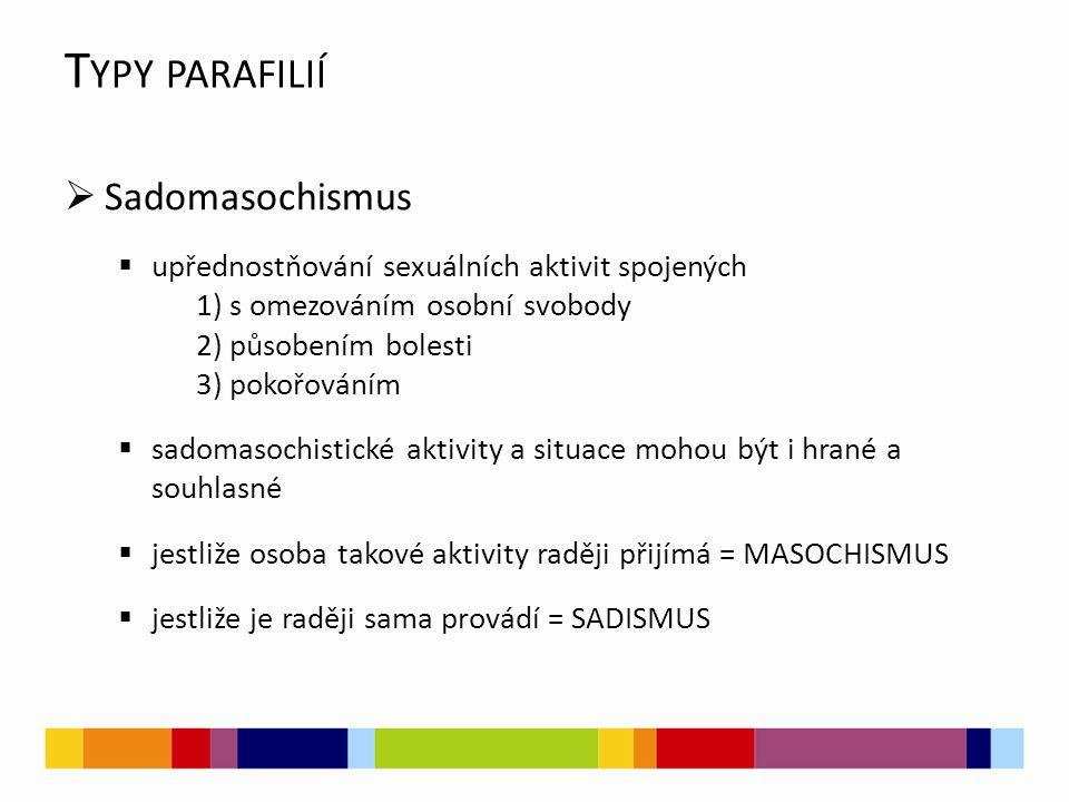 Typy parafilií Sadomasochismus