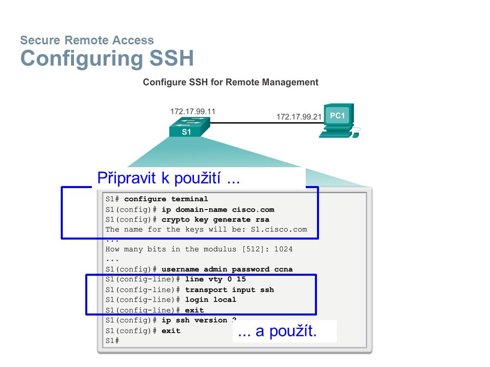 Secure Remote Access Configuring SSH